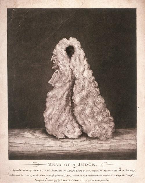 'Head of a judge...', 1795. Artist: Anon